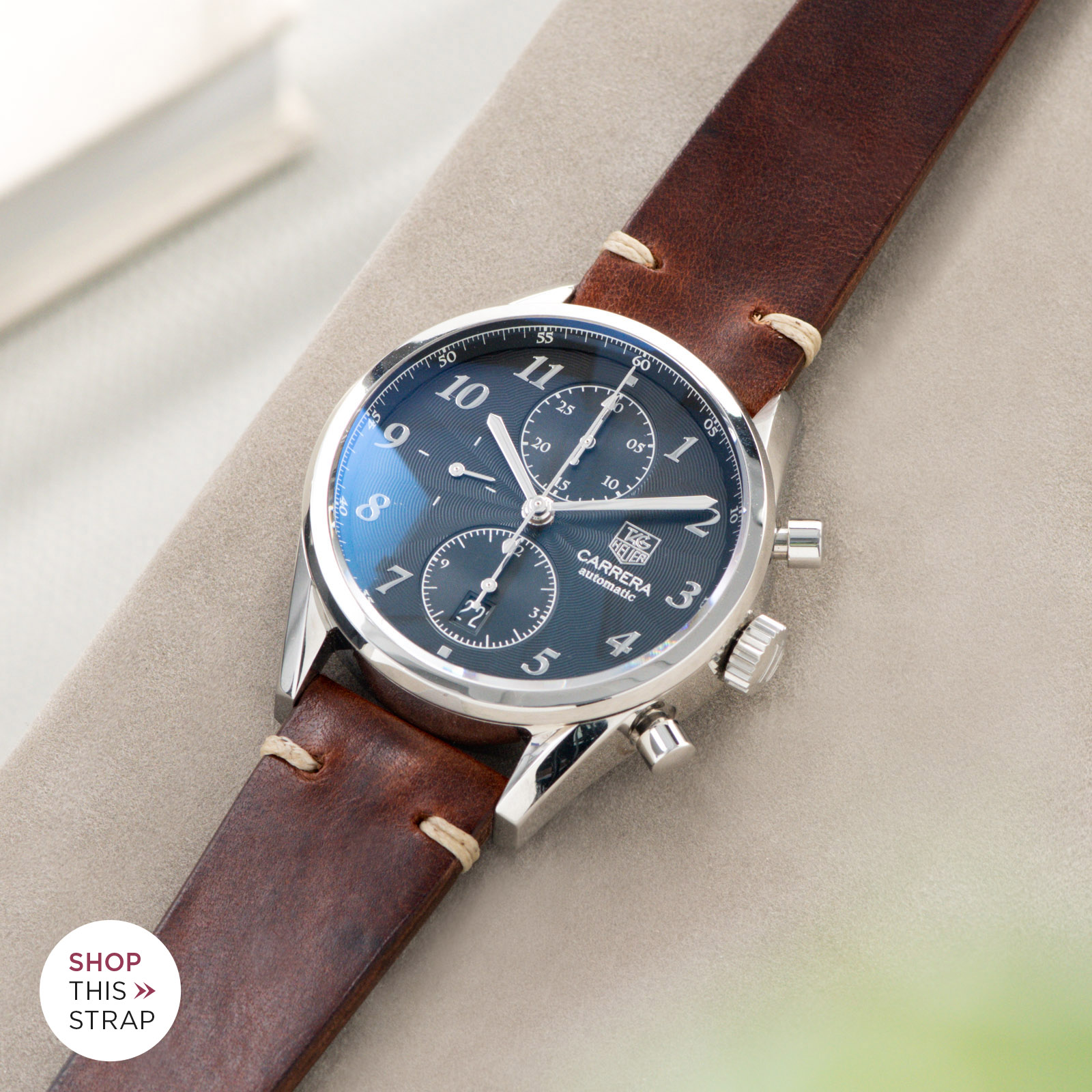 Bulang and Sons_Strap guide_Heuer Carrera Automatic_Siena Brown Leather Watch Strap