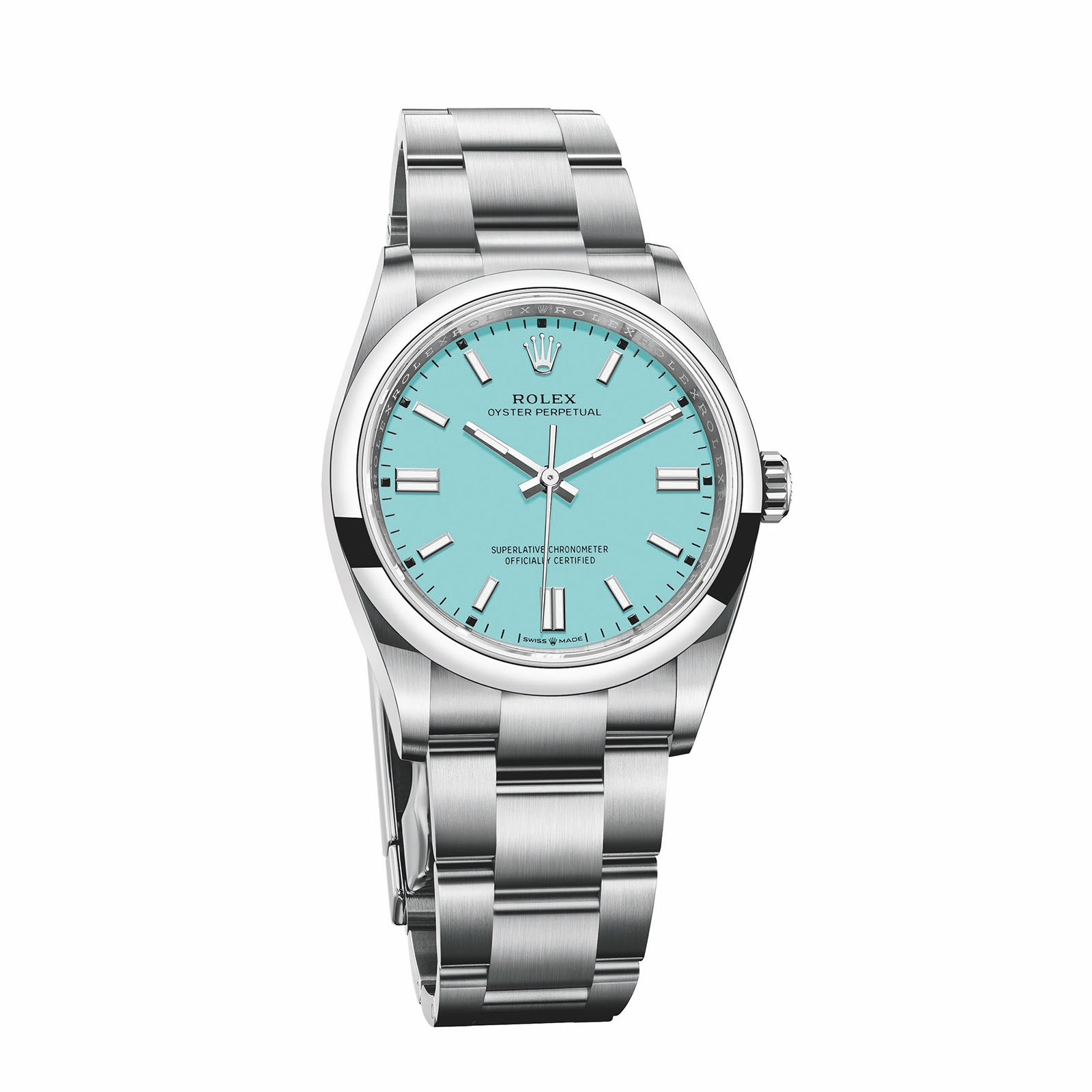 Rolex Oyster Perpetual 36mm Oystersteel 2020 Turquoise Blue