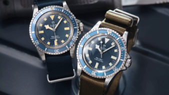 A Tale of Two Tudor Marine Nationale Submariners, Tudor 9401 MN78 and MN80 Blue Snowflake Submariner at Bulang and Sons. Original owner.